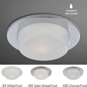 """Eurofase 21780 4"""" Shower Dropped Glass Recessed Trim"""