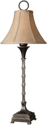 Uttermost 29723 Cantello Bamboo Glass Buffet Lamp