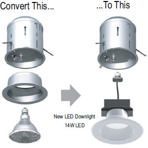 Simple kit to convert recessed lighting to led my design42 eurofase 25081 6 led conversion kit aloadofball Gallery