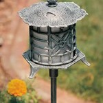 "Hadco OP1 and OPL1 9 1/2"" Pagoda Oriental Path Light"