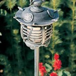 Hadco VPL1-G Cast Aluminum Pagoda Oriental Low Voltage Path Light