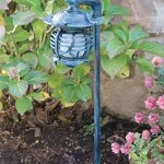 Hadco VPSL Small Round Pagoda Chinese Path Light on Arm