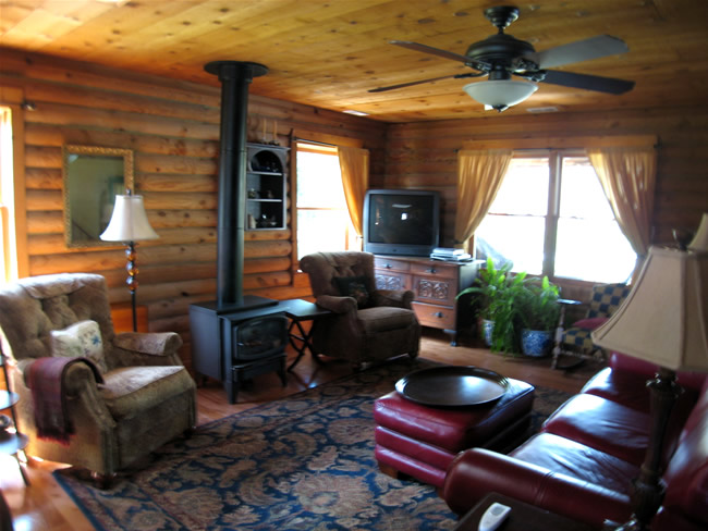 Work in Progress - This is the living room of my log cabin.