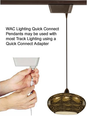 WAC Lighting Quick Connect Pendants for Track Lighting