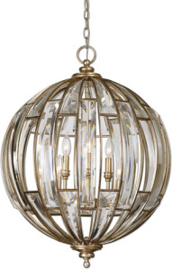 Uttermost 22031 Vicentina 6 Light Sphere Pendant from the Vicentina Collection