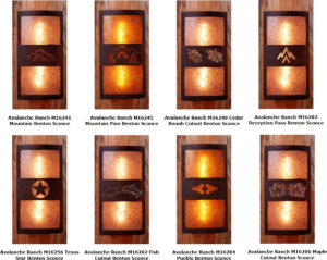 Avalanche Ranch Benton Sconce Series - Curved for Log Homes - Handmade In USA