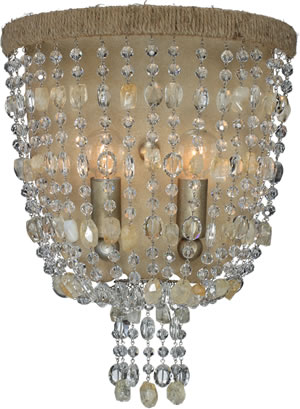 Crystorama 262-BS Natural Wall Sconce from the Eva Collection