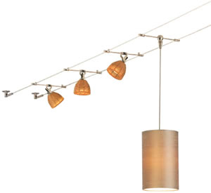 start with a simple kable kit then add any lights or pendants not included cable lighting pendants