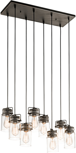 Kichler Brinley 42890 8-Light Multi-Pendant
