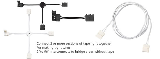 Supply leads and Interconnects Measure any distance between the pieces of tape to connect them.