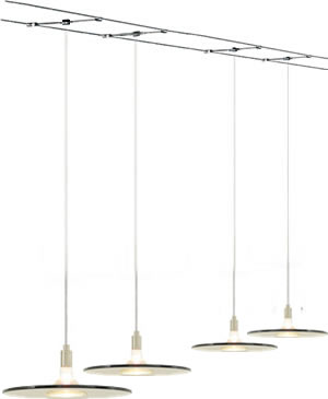 Tech Lighting 700_BIZ Biz Pendants suspended from Cable