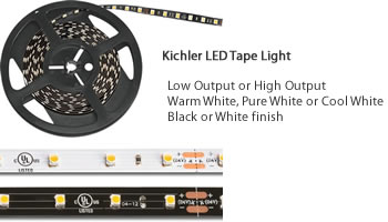 Kichler 12V LED Tape Light Installation Instructions for Dry Locations Determine the number and length(s) of tape.