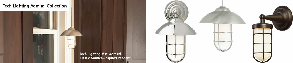 Tech Lighting Mini Admiral Classic Nautical-inspired Mariner Pendant