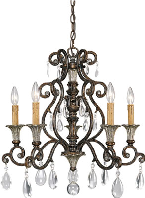 French Country Style - Savoy House Chandelier from the St. Laurence Collection 1-3001-5-8