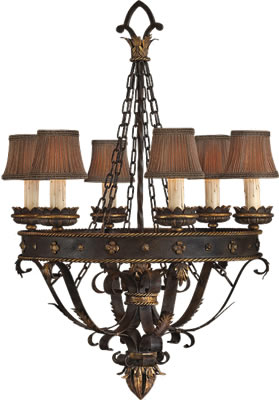 French Country Style - Fine Art Lamps Castile Chandelier 220140