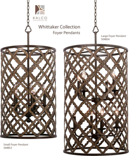 Kalco 504853, 504854 Whittaker Foyer Pendants