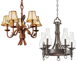 Beach & Rustic Small Chandeliers