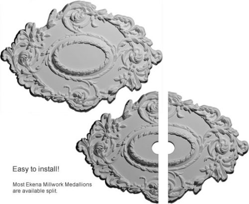 Ekena Millworks Kinsley Flowing Leaf Ceiling Medallion, easy to install and surprisingly inexpensive!