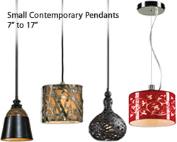 "Small Contemporary Pendants (7"" to 17"")"
