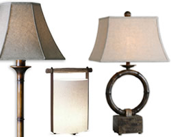 Oriental Table Lamps add Asian elements to add to any decor.