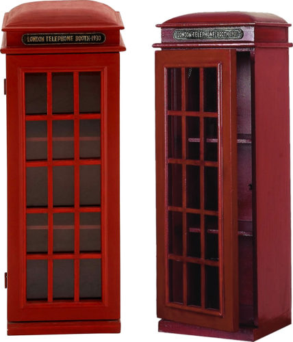 Deco 79 95827 3-Tier London Phone Booth CD Holder