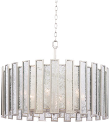 "Kalco 505054TS Palisade 27"" Pendant or Ceiling Light with Old Hollywood Art Deco Glamour"