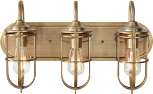 Murray Feiss VS36003-DAB 3-Light Urban Renewal Dark Antique Brass Vanity Strip - Ship Lights – Three Styles - myDesign42