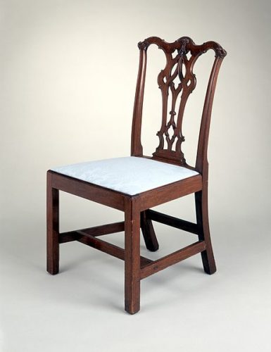 Side Chair with Gothic Splat made in Philadelphia, Pennsylvania, US between 1765 and 1780 In the Los Angeles County Museum of Art - Examples of Medieval Influence on Furniture Design – myDesign42