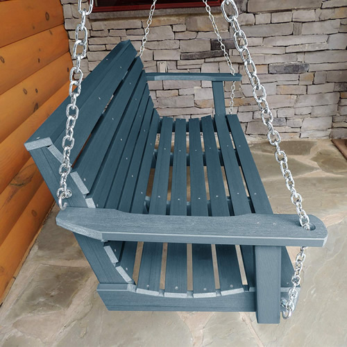 Nantucket Blue Porch Swing from the Highwood Weatherly Collection - How to choose a relaxing Porch Swings that fits your budget and personalize it to fit your style – mydesign42