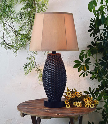 Kenroy Home 32203BRZ Sunset Outdoor Table Lamp - Table Lamps for Your Porch - Deep Discount Lighting