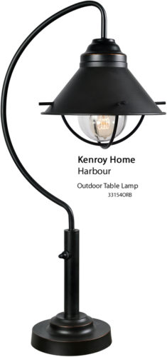 Kenroy Home 33154ORB Harbour Outdoor Table Lamp - Table Lamps for Your Porch - Deep Discount Lighting