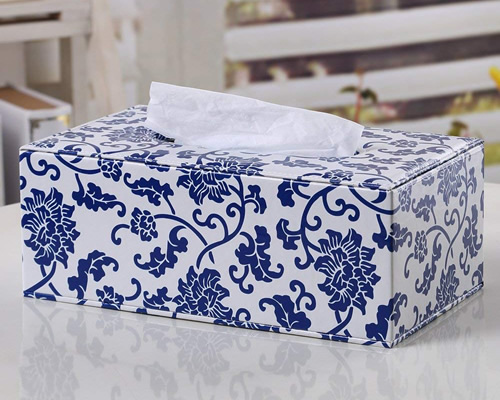 Vaguely Asian Tissue Holder - Blue Willow Bathroom Accessories - myDesign42