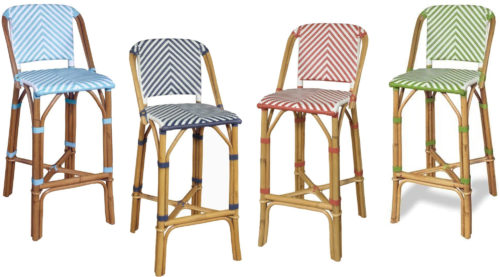 Progressive International Rum Point Counter Height Bar Stool - Rattan Bar Stools - www.mydesign42.com