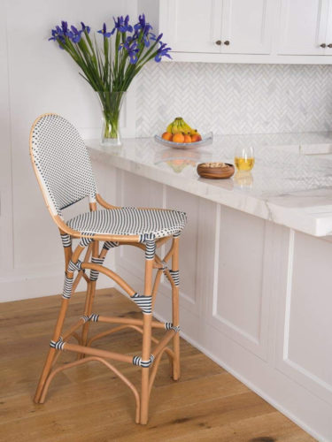 Progressive International Rum Point Bar Stool in Navy and White - Rattan Bar Stools - www.mydesign42.com