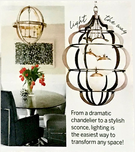 "It's All in the Details From a dramatic chandelier to a stylish sconce, lighting is the easiest way to transform any space! - Traditional Home ""We want you back"" packet"