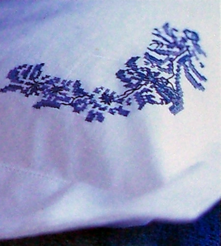 Project from Blue & White Cross Stitch: Inspired by the Classic Designs of Willow Pattern, Delftware and Toiles de Jouy by Helena Turvey