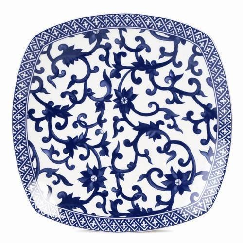 Lauren Ralph Lauren Mandarin Square Salad Plate - Ralph Lauren Blue and White Chinoiserie Fine China Dinnerware- my Design42