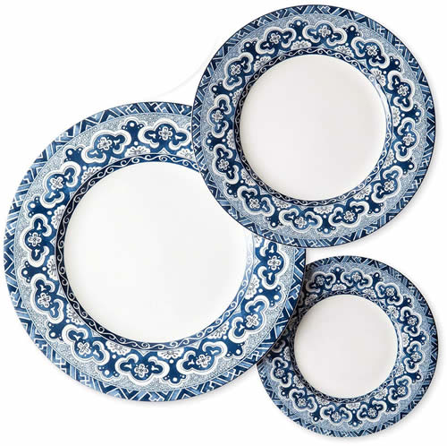 Ralph Lauren Empress Plates - Ralph Lauren Blue and White Chinoiserie Fine China Dinnerware- my Design42