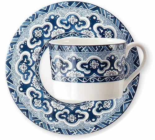 Ralph Lauren Empress Teacup and Saucer - Ralph Lauren Blue and White Chinoiserie Fine China Dinnerware- my Design42