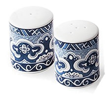 Ralph Lauren Empress Salt and Pepper Shaker Set - Ralph Lauren Blue and White Chinoiserie Fine China Dinnerware- my Design42