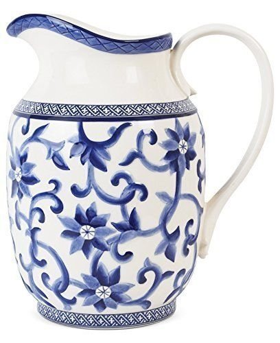 Ralph Lauren Mandarin Pitcher - Ralph Lauren Blue and White Chinoiserie Fine China Dinnerware- my Design42