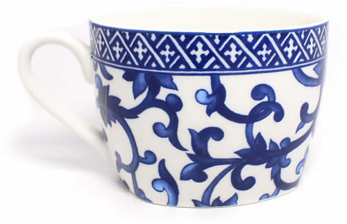 Ralph Lauren Mandarin Square Teacup - Ralph Lauren Blue and White Chinoiserie Fine China Dinnerware- my Design42