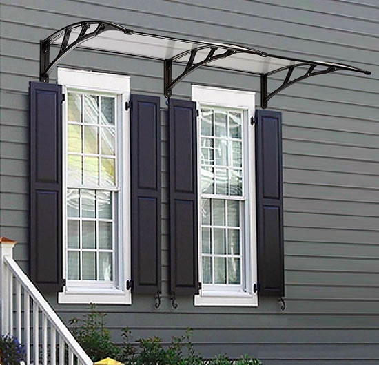 "LAGarden 78""x 39"" Door & Window Awning Canopy - Inexpensive, Easy-to-Install Awnings"