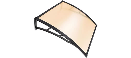 "LAGarden 39""x 39"" Door & Window Awning Canopy in Brown finish with Brown Polycarbonate - LAGarden Awning Canopy comes in Black, White or Brown finish with Clear or Brown Polycarbonate - Inexpensive, Easy-to-Install Awnings"