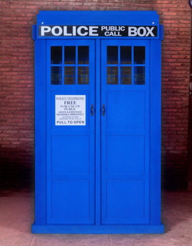 The Tardis is made of wood. The sign and lettering are painted on. - Love The Doctor? Full Size Police Call Box Tardis – Doctor Who Gift