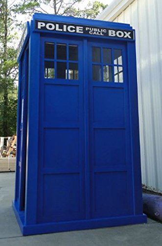 "The Tardis is 98"" tall and 51.25"" wide and deep. - Love The Doctor? Full Size Police Call Box Tardis – Doctor Who Gift"