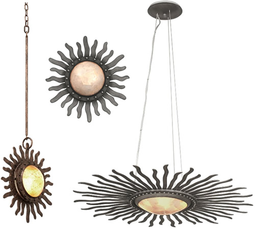 Kalco Lighting's Polaris Collection with Capiz shell - Capiz Chandeliers, Natural & Fresh