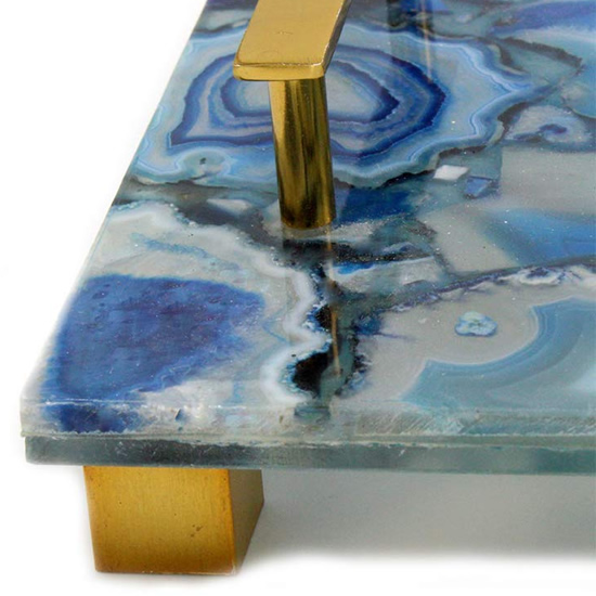 The closeup shows the bands of minerals - Enhance Your Home with Blue Agate –A Beautiful Natural(ish) Mineral – myDesign42