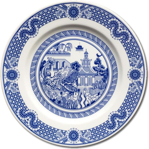Voracious Sea Monster - CalamityWare: Fun Twist on Blue Willow – myDesign42