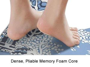 Soft Cushioned Memory Foam - Blue Willow Memory Foam Contour Toilet Mats